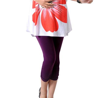 Maternity-Adjust-Waistline-Stretchy-Half-Pants-Leggings