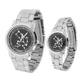 Fashion One Pair of Wristwatch with Steel Strap for Lovers