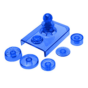 Crystal Blue Clear Color 3D Button for for Nintendo Wii Remote