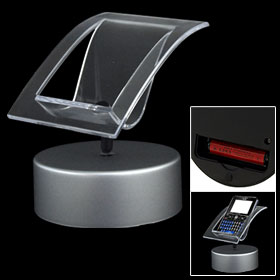 Charming Crystal Rotating Display Stand with Round Base for iPod Cell Phone