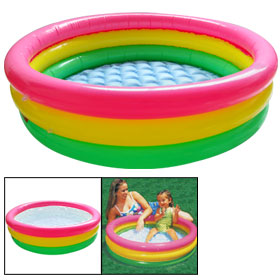 Round Inflatable Lounge Swimming Float Baby Pool