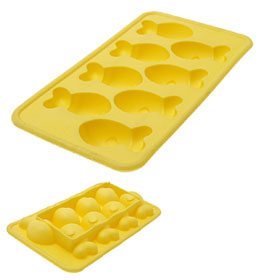Yellow TPR Fish Ice Cube Cake Pan Mold Tray Soft Chocolate Maker