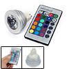 MR16 Remote Control 16 Color RGB LED High Power Studio Spotlight Bulb 12V