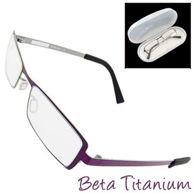 47 x 18mm Full-Rim Beta Titanium Spectacle Optical Eyeglasses Glasses Frame