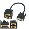 DVI-I Male to Dual VGA Female Gold Plated Splitter Cable
