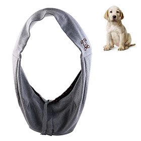Grey Soft Portable Convenient Pet Dog Carrying Shoulder Bag