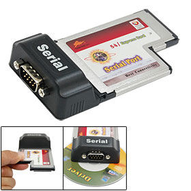 9-Pin RS-232 Serial Port Express Card for Laptop