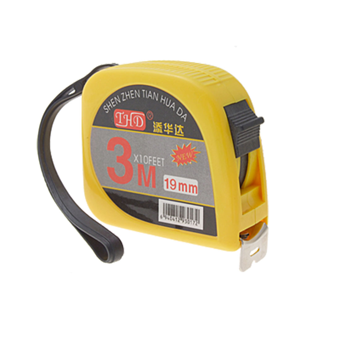 Yellow-Black-3-Meters-Steel-Tape-Measure-Measuring-Tool