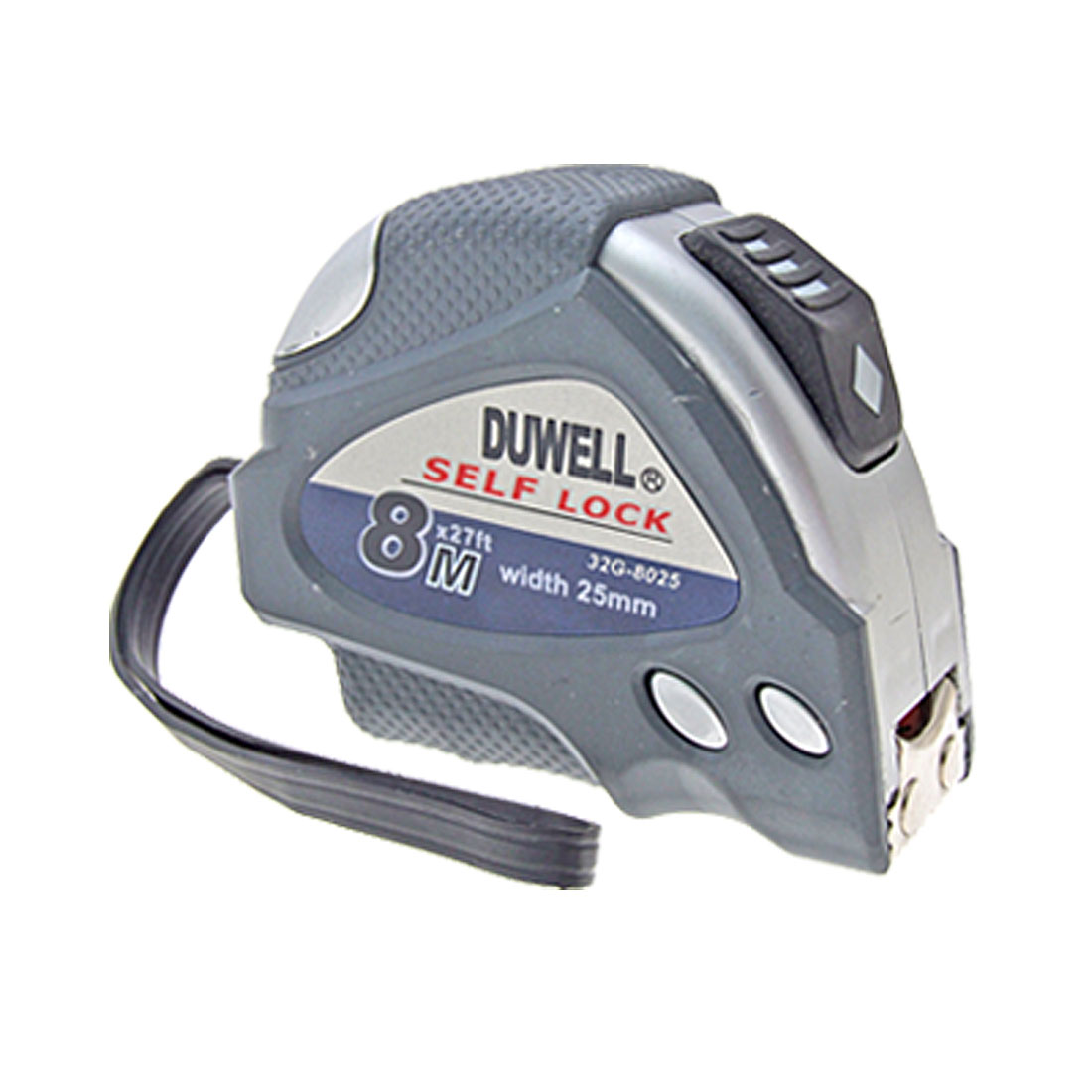 8m-Long-Gray-Silver-Tone-Steel-Tape-Measure-Tool
