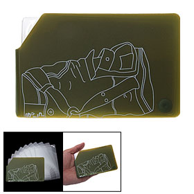 Olive Drab Portable Plastic Business Credit Card Case Holder