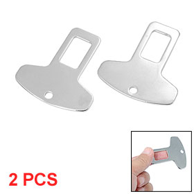 2 Pcs Car Automobile Safety Seat Lock Metal Belt Buckles