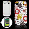 Red Sunflowers Pattern Soft Plastic Back Cover for Samsung i9000
