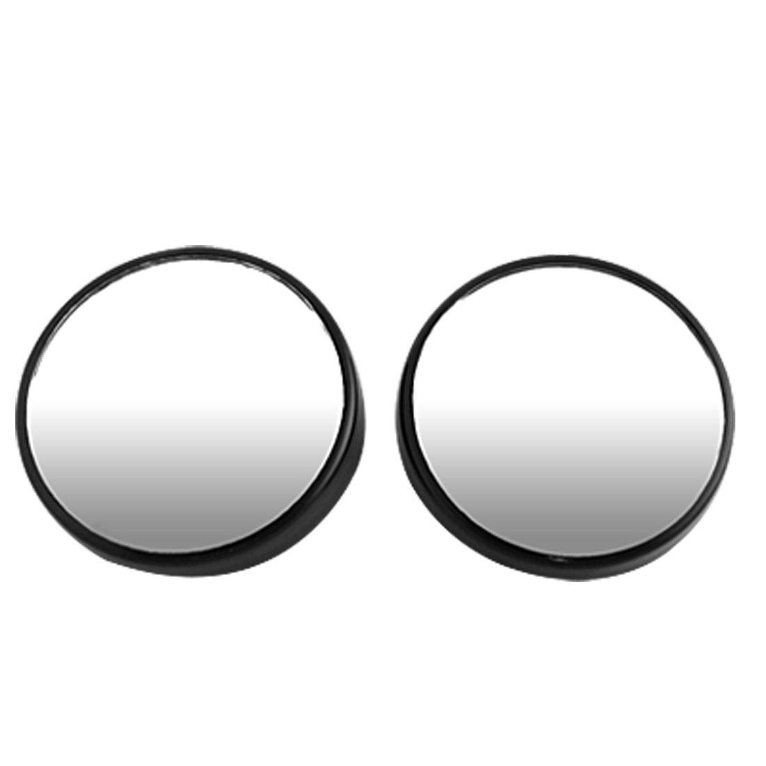 Unique Bargains Car 360 Degrees Adjustable Black Blind Spot Mirror 50mm