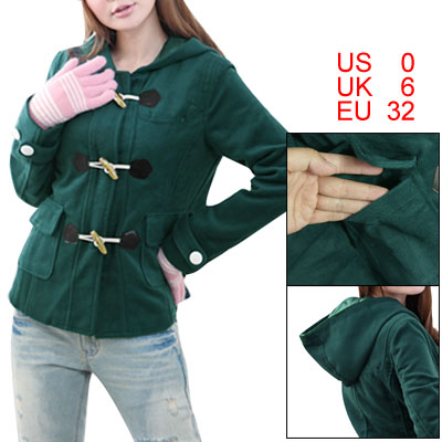 Worsted-Long-Sleeve-Button-Tab-Cuff-Hooded-Jacket-XS