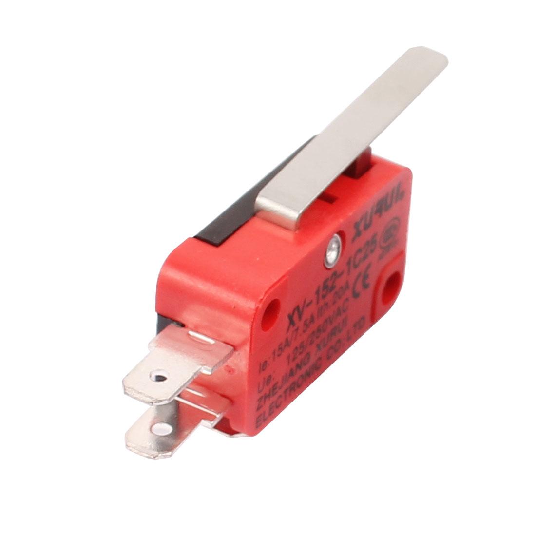 xv-152-1C25-Flachhebel-Art-Miniatur-Mikroschalter