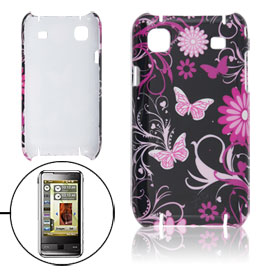 Butterfly Flowers Patterns Hard Plastic Back Case for Samsung i9000