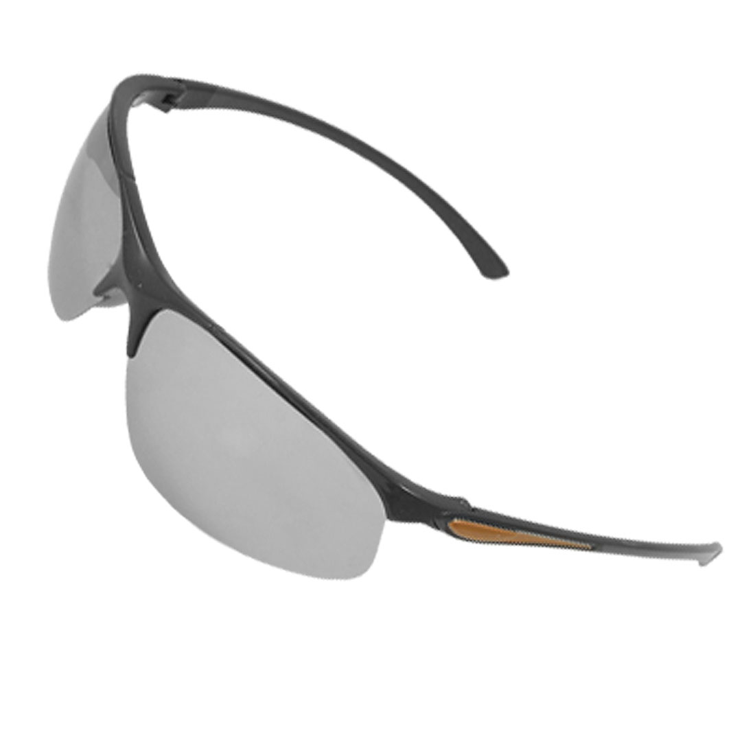 Men-Women-Mirror-Lens-Orange-Black-Slim-Arm-Sunglasses