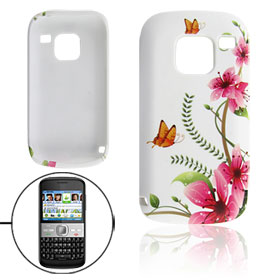 Flower Butterfly Pattern Soft Plastic Cover Case for Nokia E5