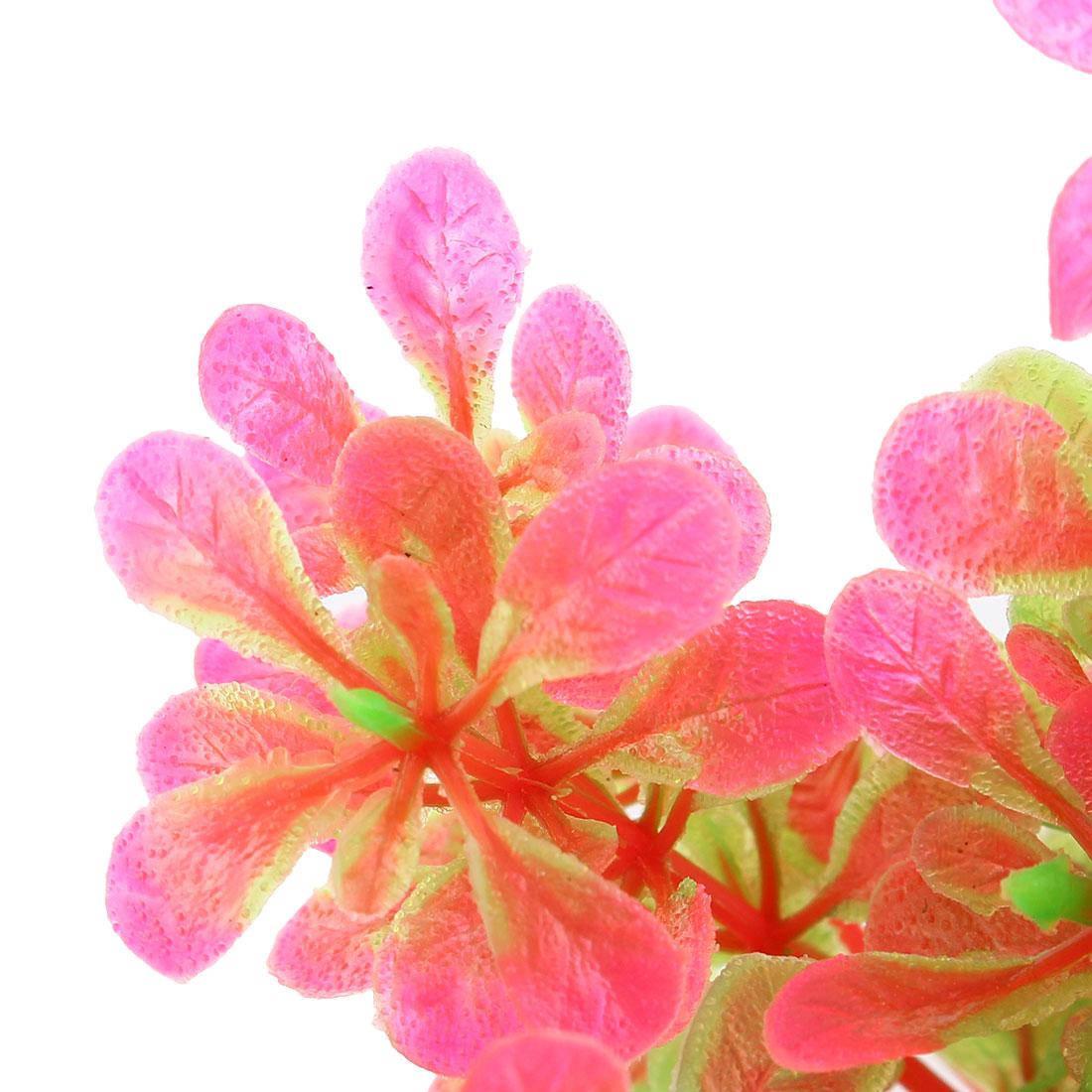 Fuchsia Verte Arbre Bonsaï au Tronc Courbé Plante Aquatique en Plastique 2