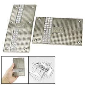 Rhinestone Detail Rectangle AT Car Gas Brake Nonslip Pedal Pad Covers