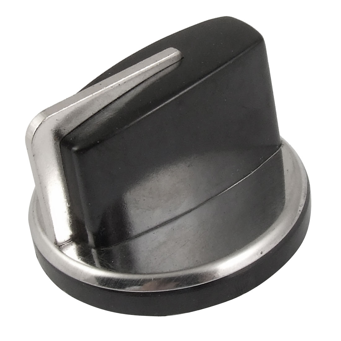 Unique Bargains Stove Oven Range Surface Mount Knob Silver Tone Black