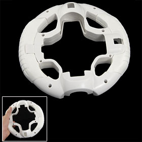 White Plastic Foam Steering Wheel for Sony PS3 Move Game