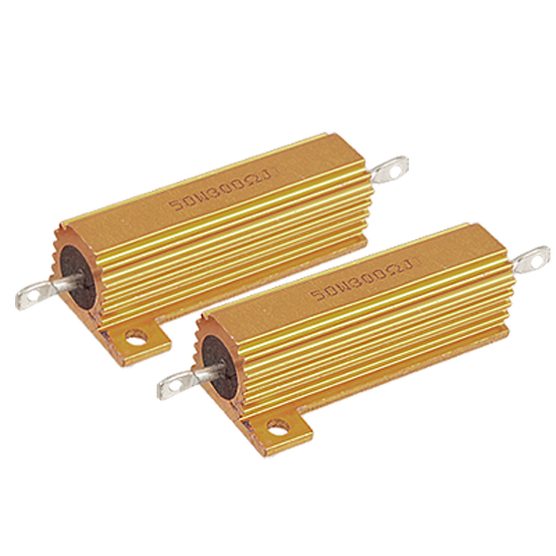 2-Pcs-Screw-Tabs-Mounted-5-300-Ohm-Aluminum-Resistors