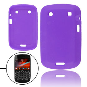 Purple Soft Silicone Skin Case for Blackberry 9900 9930