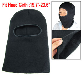 Man Black Ski Mask One Hole Knitting Warm Winter Snowboard Hat