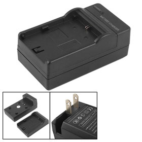Digital Camera US 2 Pin Black Travel Charger for Canon Battery LP-E6