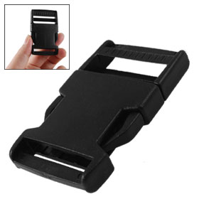 "1 1/4"" Black Plastic Side Quick Release Buckle for Strapping"