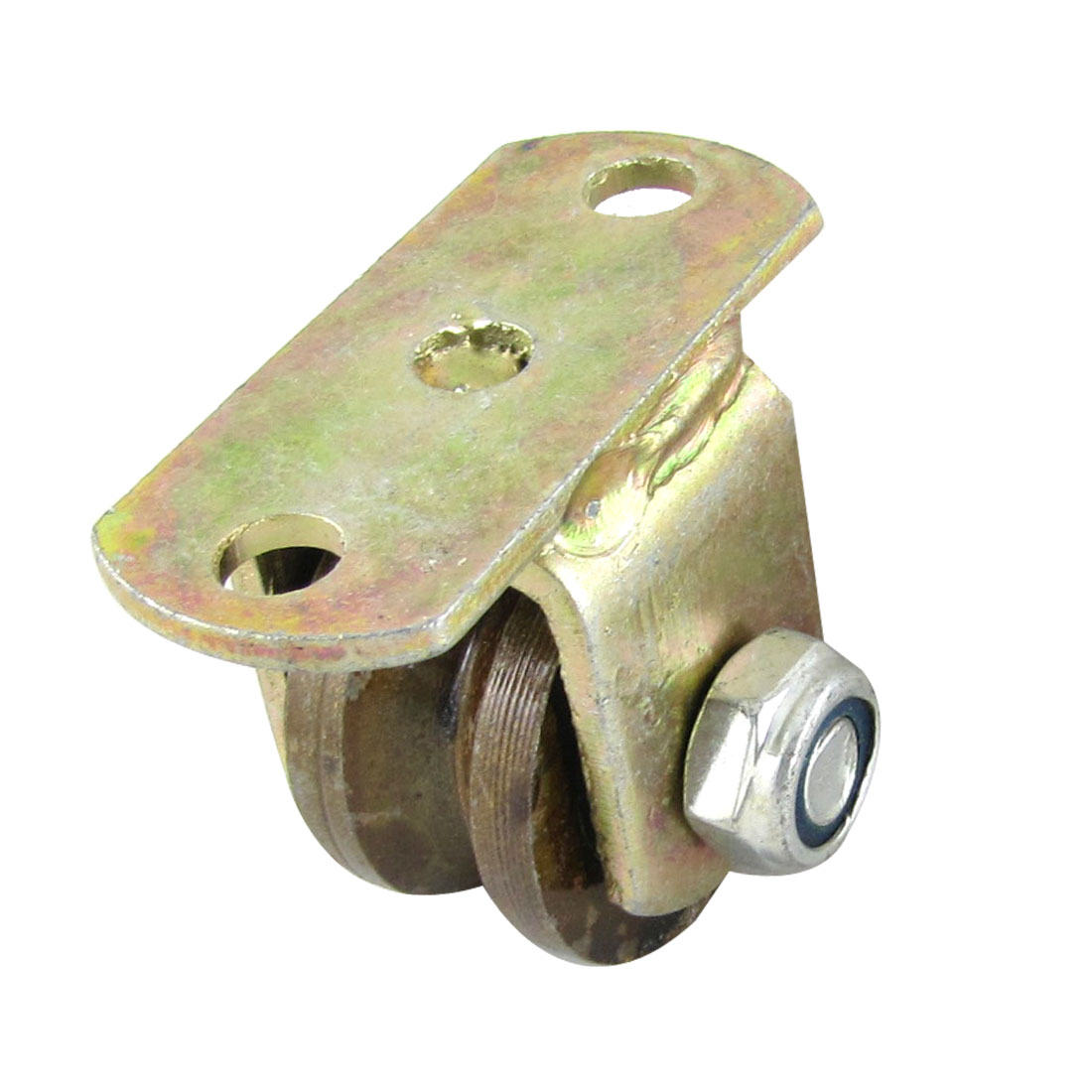 Metal-Plate-1-5-Diameter-Wheel-V-Grooved-Rigid-Caster