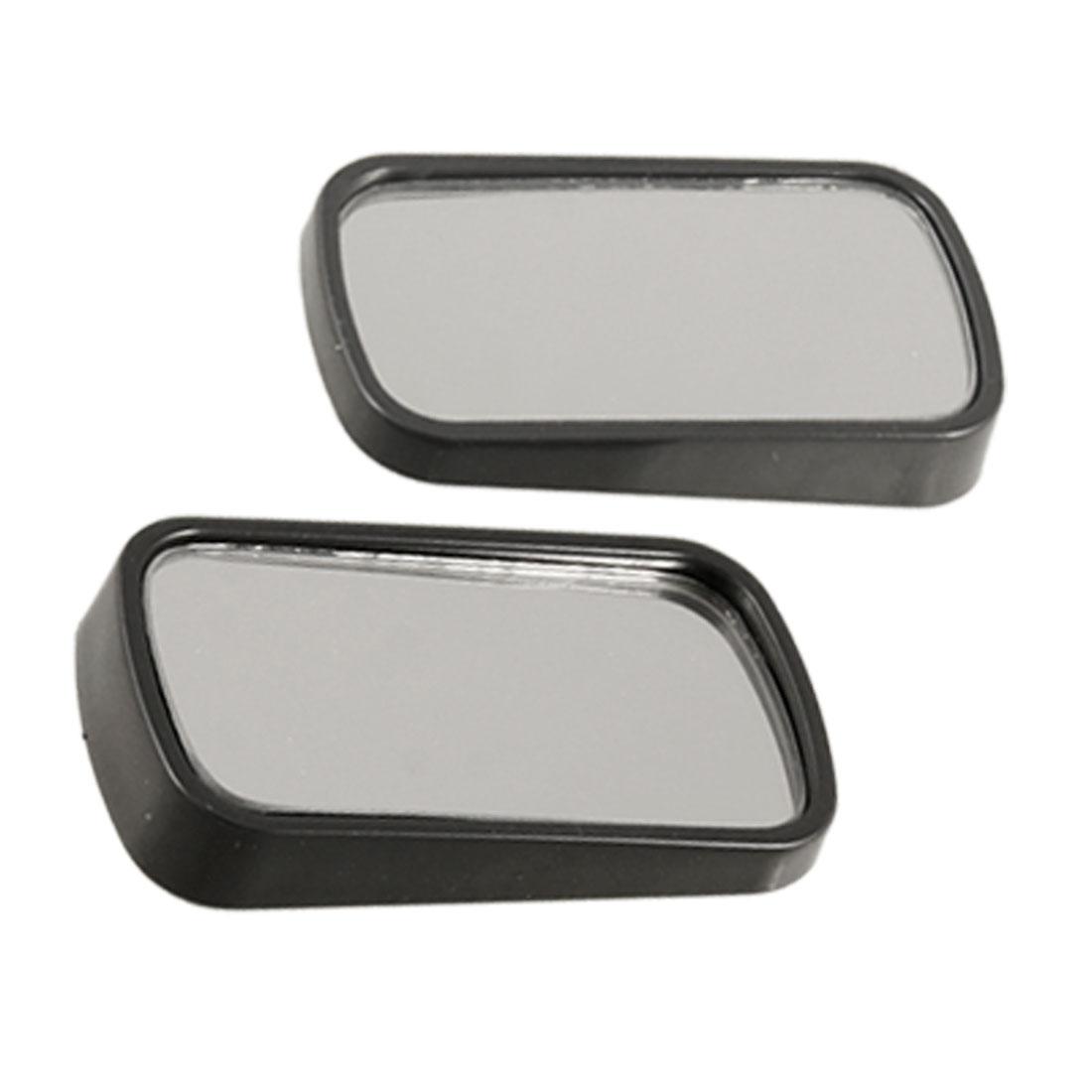 Unique Bargains 2 Pcs Auto Car Rectangular Side Rearview Blind Spot Mirror 2.5