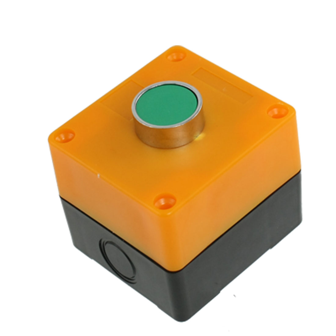 Green-Round-Cap-1NO-Momentary-Flat-Push-Button-Switch-AC-400V-10A