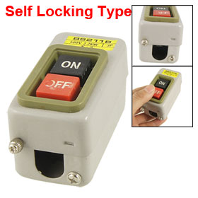 BS211B 3P 500V 2.2KW Screw Terminal Self Lock On/Off Power Pushbutton Switch