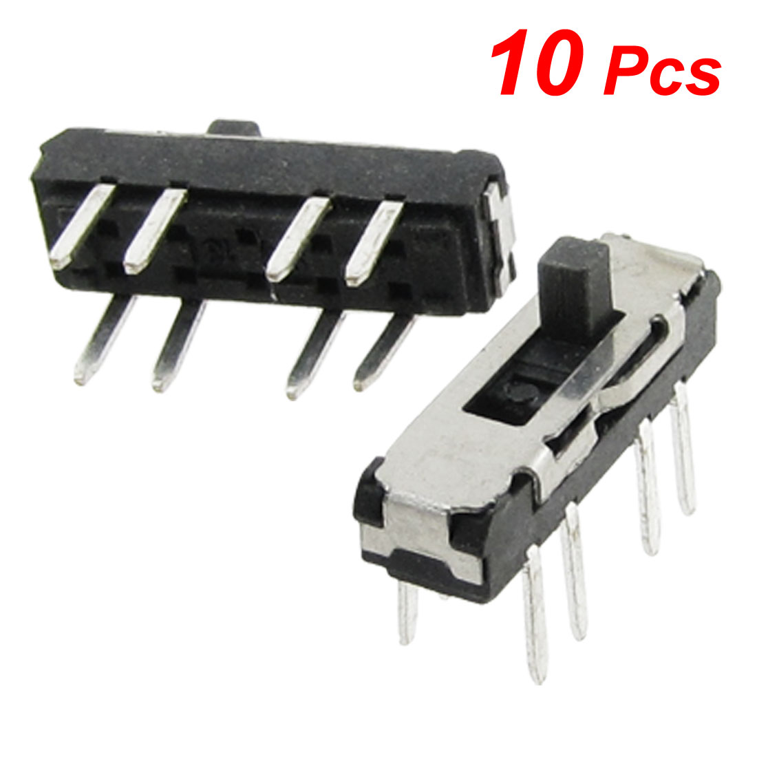 10-Pcs-Vertical-Double-Row-8-Pin-On-Off-On-3-Position-2P3T-Mini-Slide-Switch