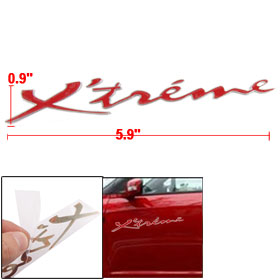 Self Adhesive Red Letter Wall Truck Car Window Sticker Decal Decor