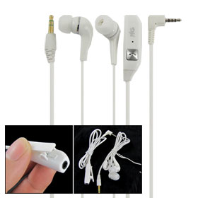White Headphone Adapter Earphone w Clip for Nokia 6300