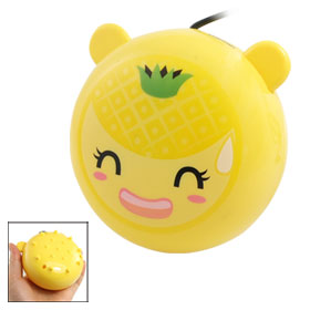 Cartoon Pineapple Design Mini USB Yellow Hand Warmer Massager