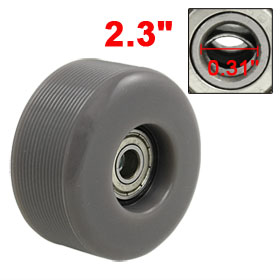 58mm Nonslip Gray PU Skating Roller Skateboard Wheel + 608ZZ Bearings