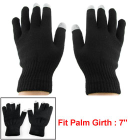 Black Unisex Capacitive Touch Screen Gloves Mitts for iPhone 3G 3GS 4 4G