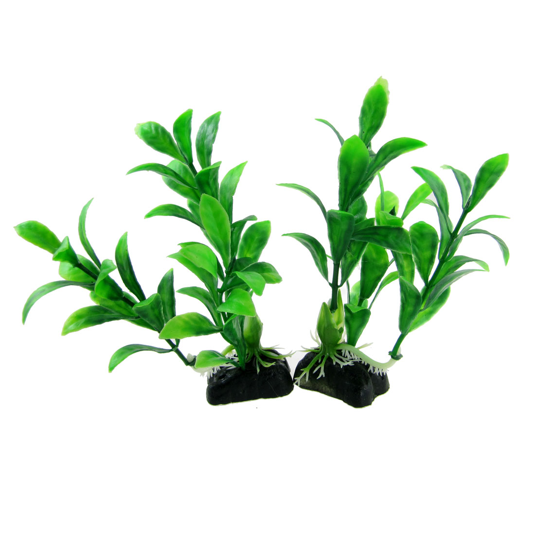 Aquarium-Fish-Tank-Green-Plastic-Plants-Decoration-2-6-x-4-9-2-Pcs