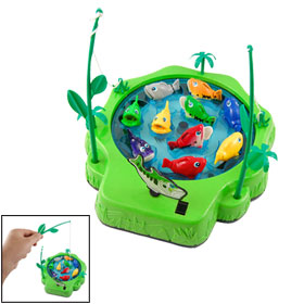 Child Battery Operated Colorful Plastic Electric Fishing Toy