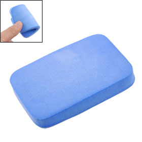 Blue Soft Rectangle Sponge Cleaning Pad for Table Tennis Racket Bat