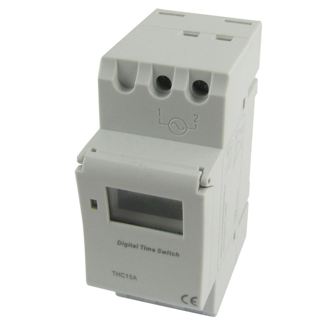 Unique Bargains Din Rail Mount Digital Weekly Programmable Timer DC/AC 12V Time Relay Switch