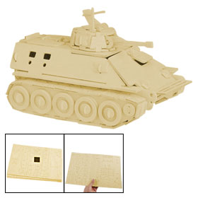 Infantry Tank Design Wooden Construction Kit Puzzled Assemble Toy