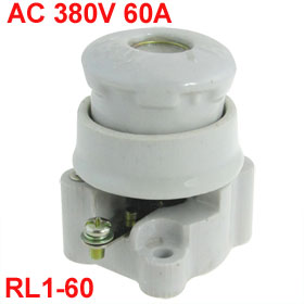 RL1-60 AC 380V 60A Amps Ceramic Spiral Fuse Base Holder