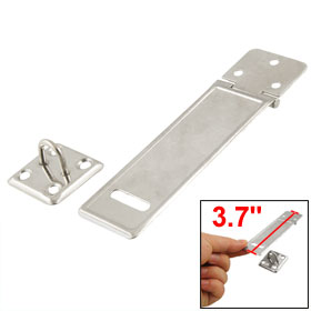 Gates Door Mate Latch Silver Tone Stainless Steel Hasp Staple 3.75""