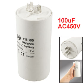Washing Machine CBB60 100uF AC450V Motor Run Capacitor