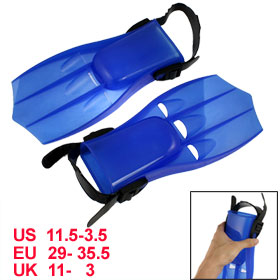 Boys Blue Plastic Fin Shape Swimming Floating Flippers
